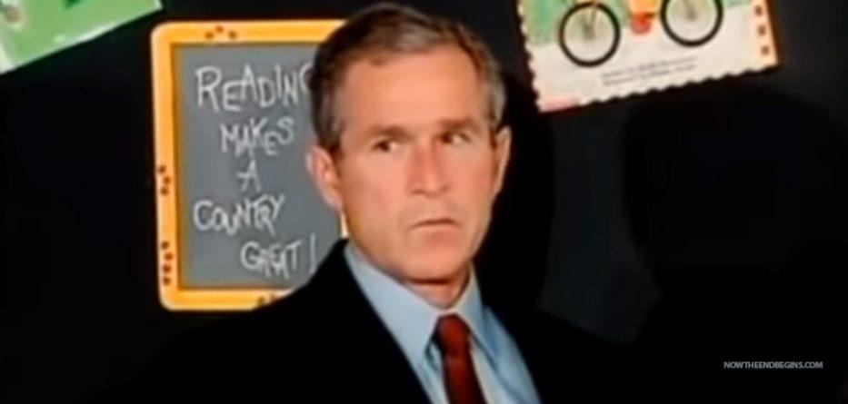 BIZARRE BEHAVIOR OF GEORGE W. BUSH, SHOWS HE HAD ADVANCE KNOWLEDGE OF THE 9/11ATTACKS