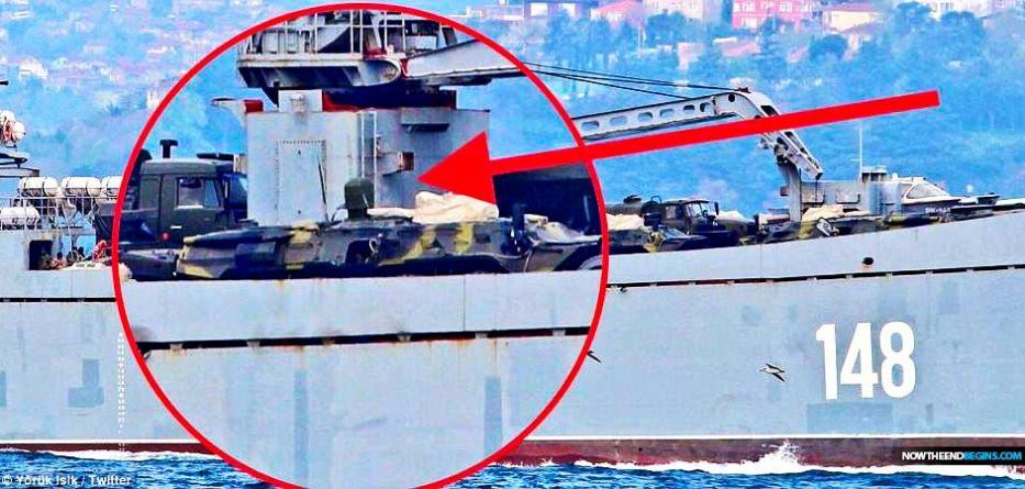 RUSSIA SENDS WARSHIPS AND MILITARY VEHICLES TOSYRIA